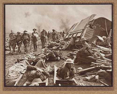 wounded soldiers photo