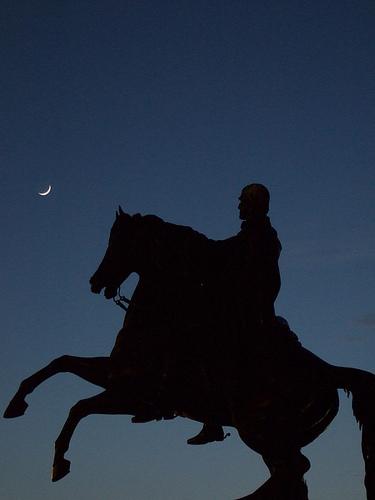 horseman night photo